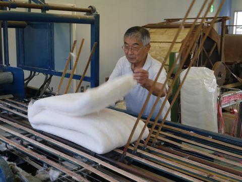 自社製綿工場